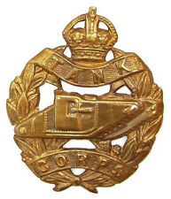 WW1 THE TANK CORPS CAP BADGE BRASS METAL K.C