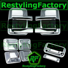 08-16 Ford Super Duty Chrome Mirror+4 Door Handle w/o KH+Tailgate Camera Cover