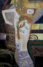 Gastav Klimt Water Snakes Repro, 100% Hand Painted Oil Painting, 24x36in