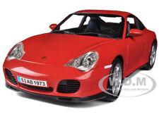 PORSCHE CARRERA 4S RED 1/18 DIECAST MODEL CAR BY MAISTO 31628