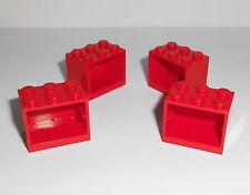 Lego (4532) 4 Container/Schränke 2x3x2, in rot aus 6752, 7208, 7239, 8654