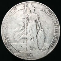 1910 | Edward VII One Florin, Two Shillings | Silver | Coins | KM Coins