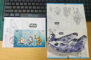 Malaysia 2020 Star Wars Starwars Stamp FDC - BB8 R2D2 C-3PO Falcon