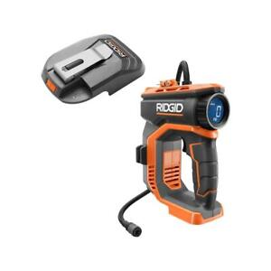 RIDGID High Pressure Inflator Portable Power Source Activate Button Cordless 18V