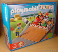 PLAYMOBIL Racing Car Set Go Karts + fiigures 4141 2007 MIB New