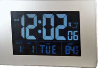 "Exclusive Atomic 1.75"" Display LCD AC/DC Desk/Wall Clock"