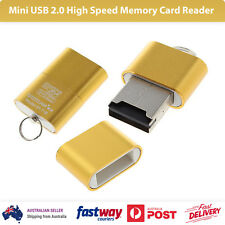 Mini USB 2.0 High Speed TF T-Flash Memory Card Reader Adapter Gold SY-T18/T97