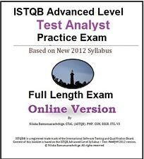 ISTQB Advanced Level – Test Analyst Full Length Online Practice Test
