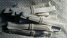 NOS Swiss style 12pcs #11118 18mm White Rubber Tropic Diver curved watch straps