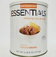Emergency Essentials Freeze Dried Food Dehydrated Refried Beans #10 Can