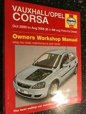 VAUXHALL CORSA HAYNES OWNERS WORKSHOP MANUAL PETROL DIESEL 2000-2006 X-06