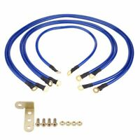 Universal 5-point Auto Car Earth Cable System Ground Grounding Wire Kit Racing