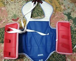AAMA Martial Arts #2 Taekwondo Karate Reversible Sparring Chest Protector Vest