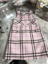 BOUTIQUE LILI GAUFRETTE GIRLS 5 Years PINK PLAID  WOOL DRESS $$$$$