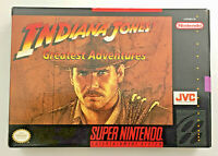 Indiana Jones' Greatest Adventure (SNES) Video Game Manual Box (Super Nintendo)
