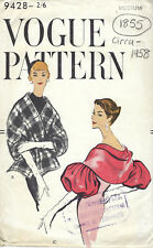 1958 Vintage VOGUE Sewing Pattern B34-36 CAPLETS STOLE WRAP (1855)