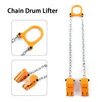 2000LBS Chain Drum Lifter Chain Alloy Steel Drum Lifter Vertical Hoist Yellow US