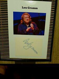 "Lou Gramm (""Foreigner"") - Wunderschönes Originalautogramm DIN-A-4"
