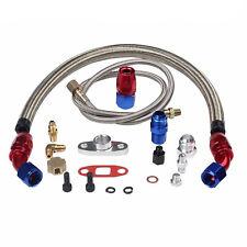 Turbo Oil Return + T3/T4/T04E Feed Line Complete Kit For Honda T3/T4