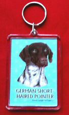 """German Shorthaired Pointer Key Chain ~ 2""""x 3"""" ~ New"""