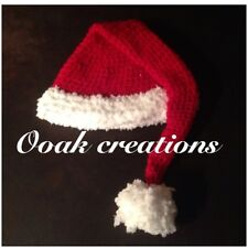 Crochet 6-9 Months Baby Santa Hat Christmas Photography Prop Or Gift