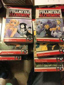 Fullmetal Alchemist, Vol. 5,6,7,8,9,10,12, by Hiromu Arakawa