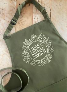 Personalised Gardening Apron - Cactus Succulent - Custom
