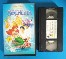 VHS FILM Cartoni Animati Walt Disney LA SIRENETTA VS 4334 classici no dvd(V188)°