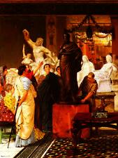 3268 Sir Lawrence Alma-Tadema Art Print The Meeting of Antony and Cleopatra