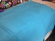 "Turquoise Blue Aqua Fleece Cut Fabric 1 Yard 36"" X 60"""