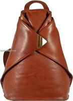 NEW VERY STYLISH VISCONTI BROWN SOFT LEATHER BACKPACK RUCKSACK BAG
