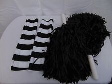 Punk Cheerleader Halloween Costume Accessories Arm Warmers & Pom Poms #1262