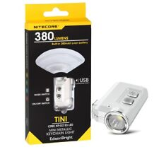 Nitecore TINI 380 Lumens LED keychain light Flashlight USB charging - Silver