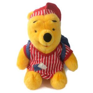 "Fisher Price Disney Winnie the Pooh Plush 12"" Pajama Fun Sleepover Backpack 1998"