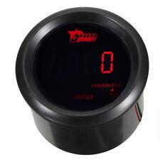 """2"""" 52mm Black Car Motor Digital Red LED Tacho Tachometer LED Gauge Meter"""