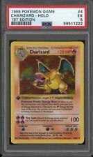 Pokemon Base Set 1st Edition Shadowless Charizard 4/102 PSA 5