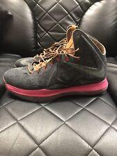 Nike LeBron X 10 Denim Size 11 Pink EXT