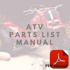 Honda TRX400FW 1995 1996 1997 1998 ForeTrax Foreman 400 Parts List ATV Manual