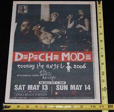 Depeche Mode 2006 Touring The Angel Jones Beach Village Voice Concert Ad