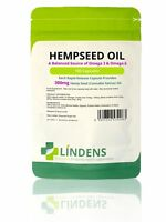Lindens Hemp Seed Oil 300mg Rich Source Of Omega 3 & 6 100 Caps Hempseed