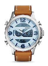 New Fossil Men's Analog-Digital Display Leather Watch JR1492