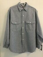 Men's Large Big Mac Hickory Stripe Work Shirt Long Sleeve True Vintage USA