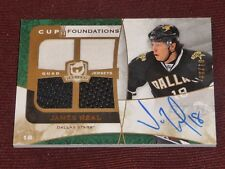 08-09 THE CUP JAMES NEAL Autographed Foundations AUTO PATCH 8/10 RC L@@K VGK's!!