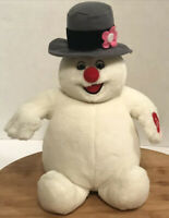 """Gemmy Frosty the Snowman Sings Musical Plush Stuffed Toy Christmas 11""""  Vtg"""