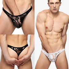 "MENS SEXY UNDERWEAR LACE THONG ( Size waist 27 to 40"" )  #163-B"