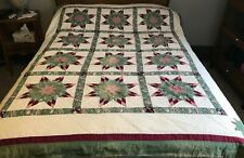 """Vintage Star Quilt, Cutter or Not 64 x 80"""""""