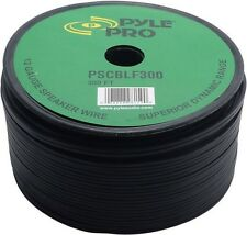 NEW Pyle PSCBLF300 300Ft 12 AWG Spool Speaker Cable W/ Rubber Jacket