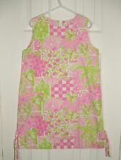 Lilly Pulitzer Juice Stand Patch Shift Dress Size 8 Elephant Fruit Flowers