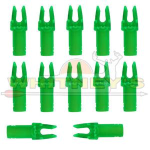 Easton Micro Lite Nock Green Fits Most Standard Carbon Arrows at 6.5mm 12 Pack