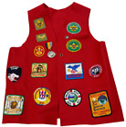 Vintage 1970s Boy Scout wool vest with patches